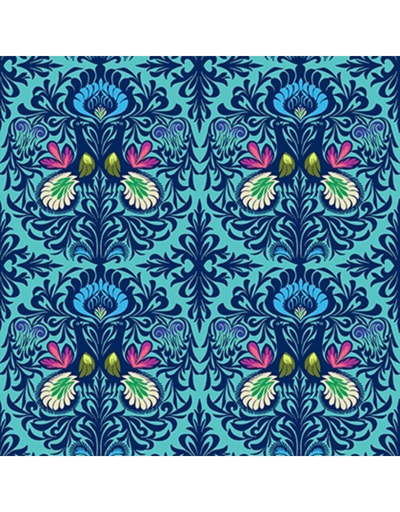 Amy Butler Cotton Poplin, Soul Mate, It Takes Two in Aqua, Fabric Half-Yards CPAB004