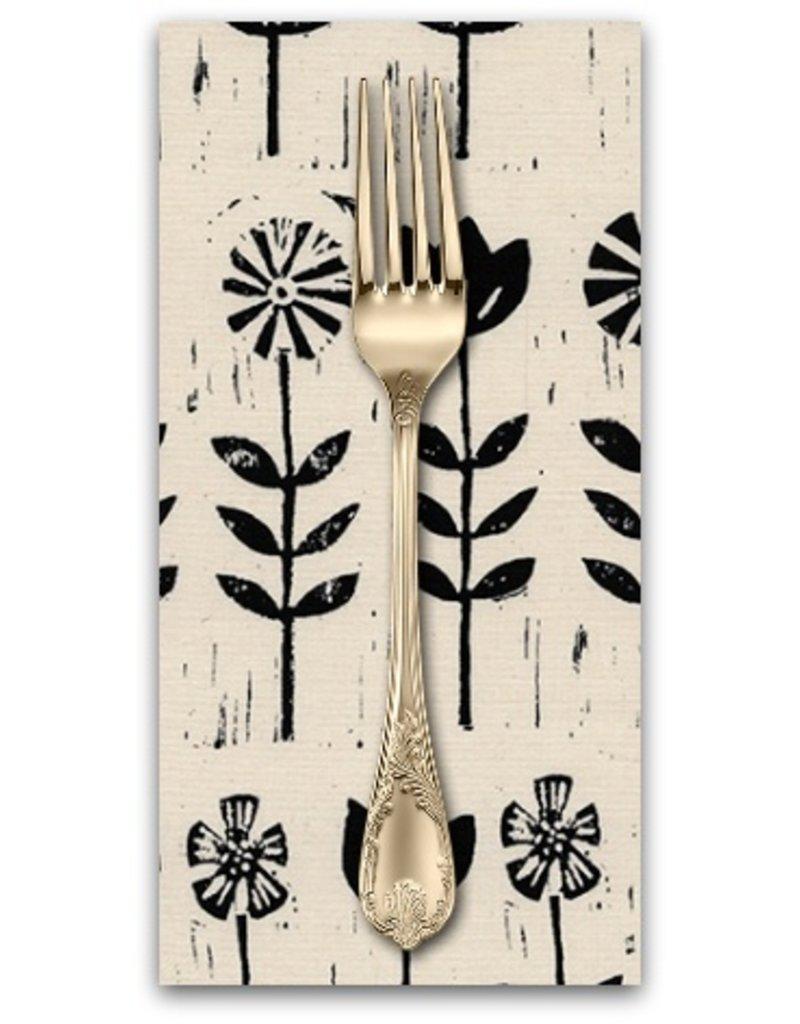 PD's Alexia Abegg Collection Sienna, Wildflower in Ink, Dinner Napkin