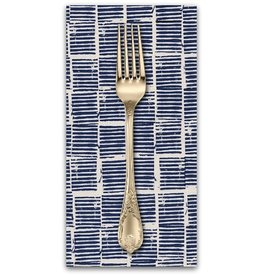 PD's Alexia Abegg Collection Sienna, Hearth in Indigo, Dinner Napkin