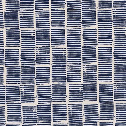 Alexia Abegg Sienna, Hearth in Indigo, Fabric Half-Yards A4057-03