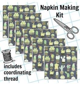 Picking Daisies Dinner Napkin Kit: Lovely Llamas, Cactus Hoedown in Gray