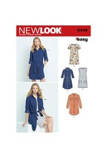 New Look New Look, Misses' Easy Shirt Dress and Knit Dress Pattern 6449