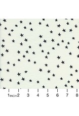 Alexia Abegg Hello Cotton Lightweight Jersey, Starry in Black  5153-17, Fabric Half-Yards