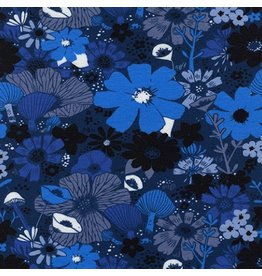Sarah Watts Dress Shop Cotton Jersey, Bouquet in Moody 5158-17, Fabric Half-Yards