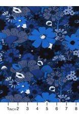 Sarah Watts Dress Shop Cotton Lightweight Jersey, Bouquet in Moody 5158-17, Fabric Half-Yards