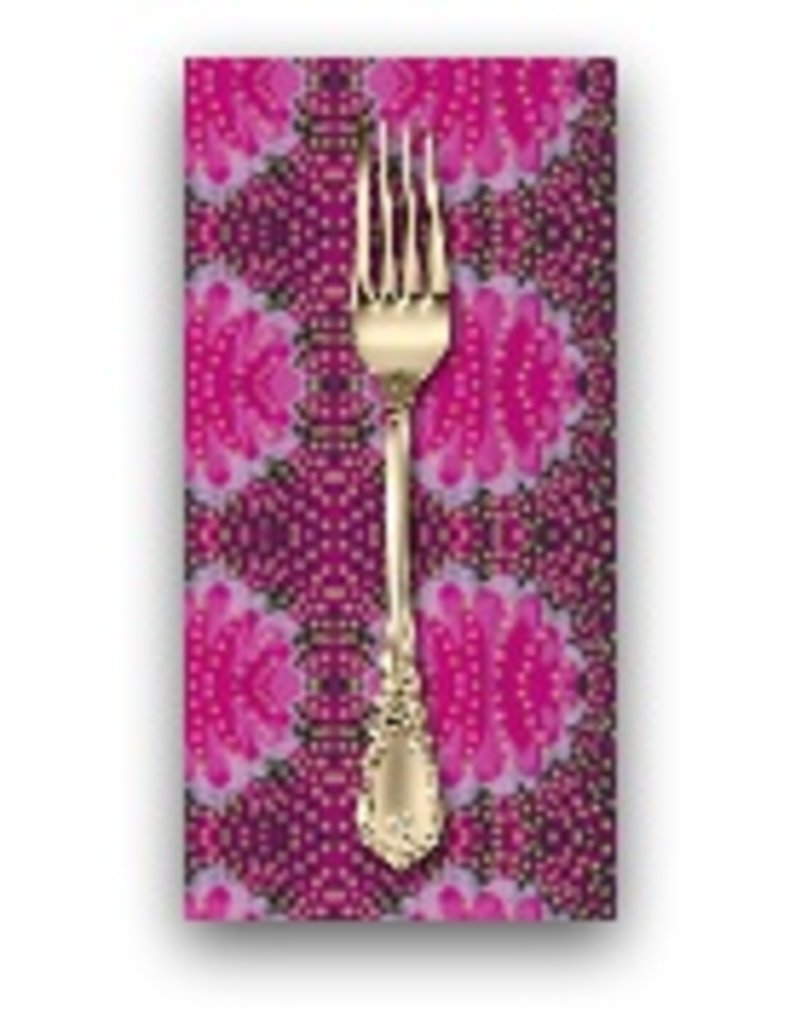 PD's Jennifer Paganelli Collection Judith's Fancy, Barbara in Magenta, Dinner Napkin