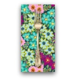 PD's Jennifer Paganelli Collection Judith's Fancy, Sally in Teal, Dinner Napkin
