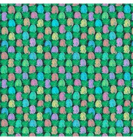 Jennifer Paganelli Judith's Fancy, Pineapple in Black, Fabric Half-Yards PWJP137