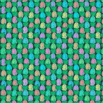 Jennifer Paganelli Judith's Fancy, Pineapple in Black, Fabric Half-Yards PWJP137