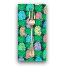 PD's Jennifer Paganelli Collection Judith's Fancy, Pineapple in Black, Dinner Napkin