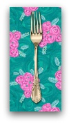 PD's Jennifer Paganelli Collection Judith's Fancy, Deborah in Teal, Dinner Napkin