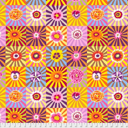 Kaffe Fassett Kaffe Collective, Sunburst in Bright, Fabric Half-Yards  PWGP162