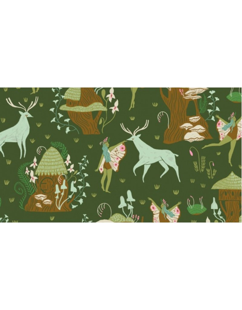 Rae Ritchie Woodland Nymph, Woodland Nymphs in Clover, Fabric Half-Yards STELLA-SRR902