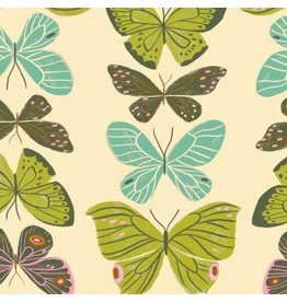 Rae Ritchie Woodland Nymph, Butterflies in Vanilla, Fabric Half-Yards STELLA-SRR904