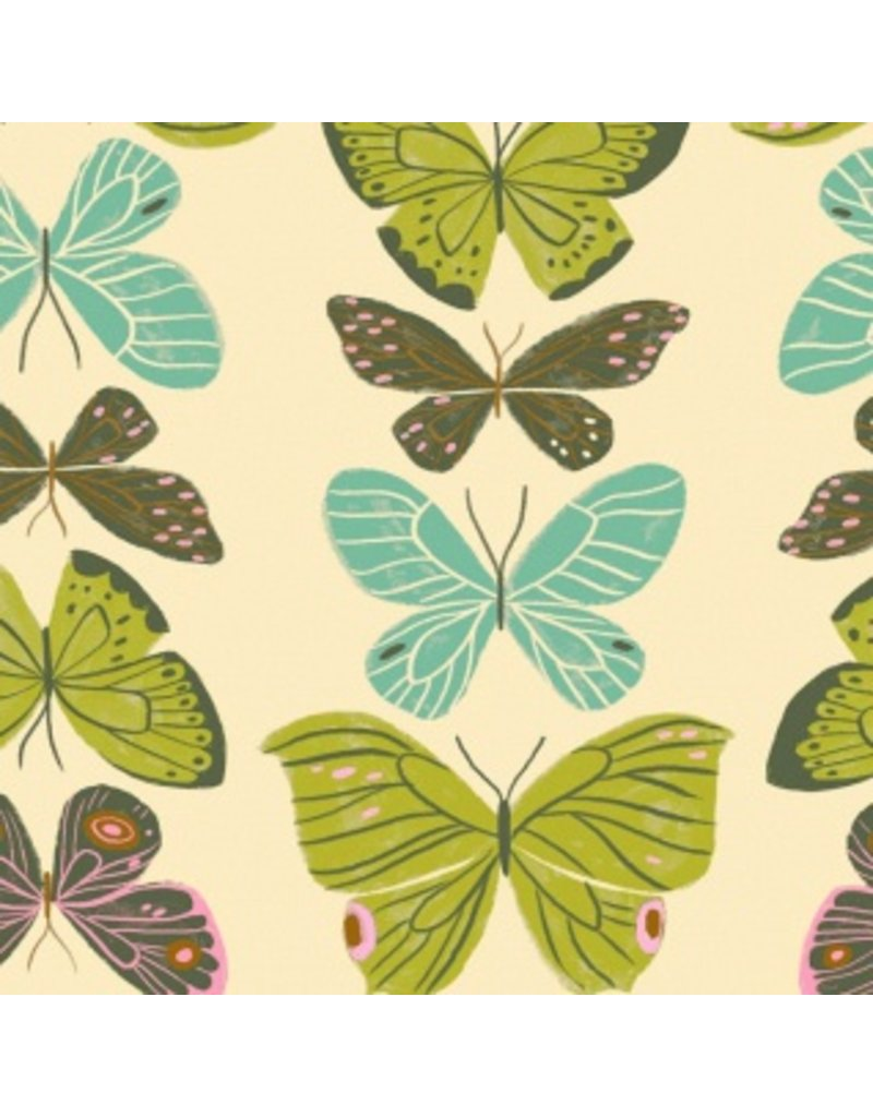 PD's Rae Ritchie Collection Woodland Nymph, Butterflies in Vanilla, Dinner Napkin