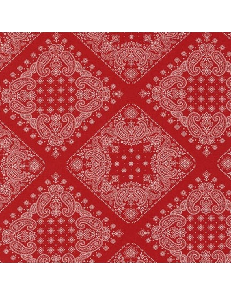 PD's Robert Kaufman Collection Sevenberry, Bandana in Red, Dinner Napkin