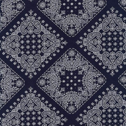 PD's Robert Kaufman Collection Sevenberry, Bandana in Navy, Dinner Napkin