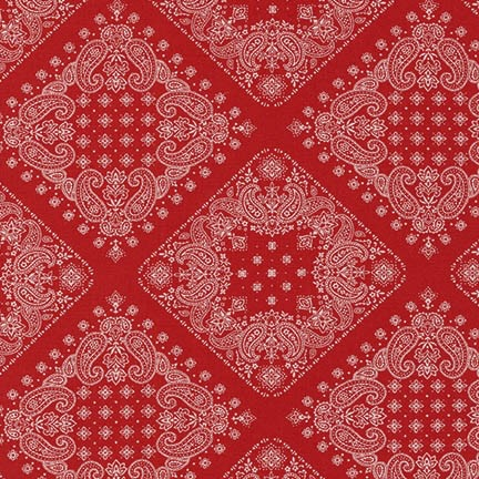 Robert Kaufman Sevenberry, Bandana in Red, Fabric Half-Yards SB-82103D2-2