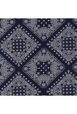 Robert Kaufman Sevenberry, Bandana in Navy, Fabric Half-Yards SB-82103D2-4