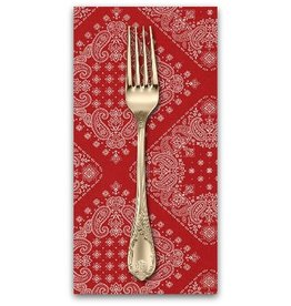 PD's Robert Kaufman Collection Sevenberry, Bandana in Red, Dinner Napkin