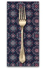 PD's Robert Kaufman Collection Sevenberry, Bandana Medallion in Navy, Dinner Napkin