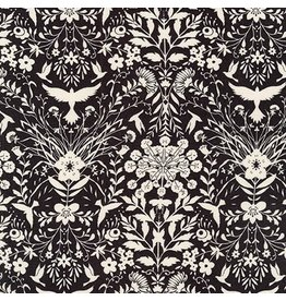Jennifer Sampou Rayon Lawn, Lucinda in Graphite, Fabric Half-Yards AJSX-17365-305