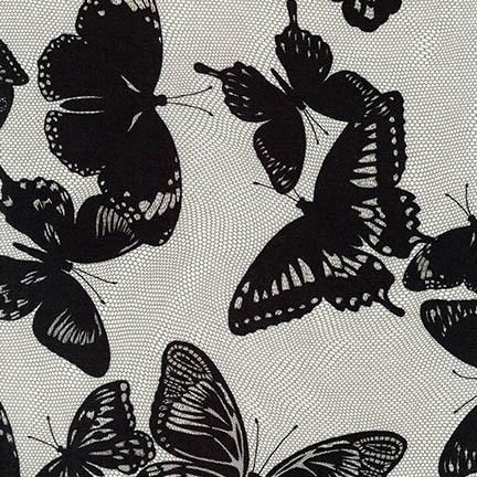 Jennifer Sampou Rayon Lawn, Lucinda in Onyx, Fabric Half-Yards AJSX-17368-181