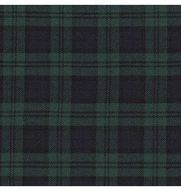 Robert Kaufman Sevenberry Classic Plaid Twill, Dk Hunter, Fabric Half-Yards SB-13110D08-29