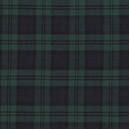 Robert Kaufman Sevenberry Classic Plaid Twill, Dk Hunter, Fabric Half-Yards SB-13110D08-29