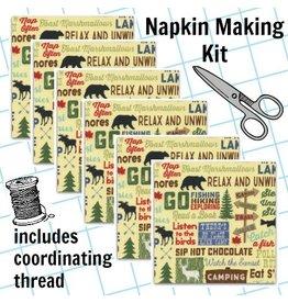 Picking Daisies Dinner Napkin Kit: Fun, Camping Words in Straw