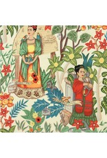 Alexander Henry Fabrics Folklorico, Fridas Garden in Tea, Fabric Half-Yards 6752AR