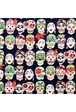 Alexander Henry Fabrics Folklorico, Gotad de Amor in Dark Eggplant, Fabric Half-Yards 7925A