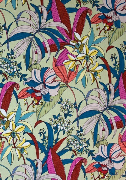 Alexander Henry Fabrics Rio, Floriana in Tea Dye, Fabric Half-Yards 8588D