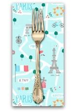 PD's Dear Stella Collection Parisienne, Le Map in Capri, Dinner Napkin