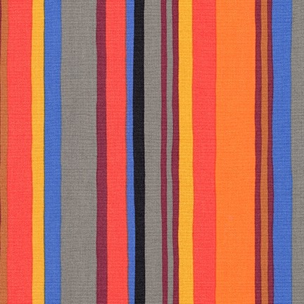 PD's Robert Kaufman Collection Psychedelia, Stripes in Fiesta, Dinner Napkin