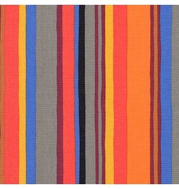 Robert Kaufman Psychedelia, Stripe in Fiesta, Fabric Half-Yards AGP-17274-194