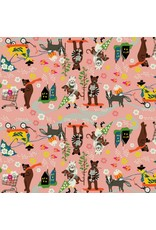 Elizabeth Grubaugh Caravan, Car Pool in Pink, Fabric Half-Yards 126.102.01.2