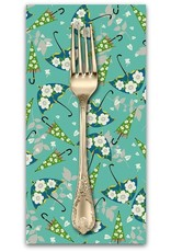 PD's Blend Fabrics Collection Caravan, Rainy Day in Blue, Dinner Napkin