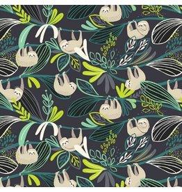 Blend Fabrics Rainforest Slumber, Lazing Sloth in Green, Fabric Half-Yards 124.105.01.2