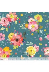PD's Blend Fabrics Collection Chelsea Market, Yorkshire Blooms in Blue, Dinner Napkin