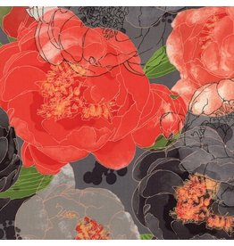 Moda Blushing Peonies, Peonies in Charcoal, Fabric Half-Yards 48610 18
