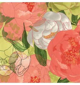 Moda Blushing Peonies, Peonies in Sprig, Fabric Half-Yards 48610 15