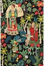 Alexander Henry Fabrics Folklorico, Fridas Garden in Black, Fabric Half-Yards 6752BR