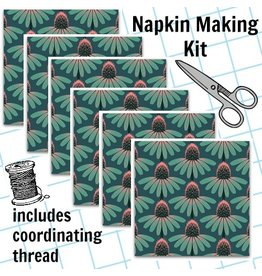 Picking Daisies Dinner Napkin Kit: Floral Retrospective, Echinacea in Dim