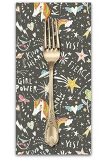PD's Blend Fabrics Collection Sugar and Spice, Word Power in Grey, Dinner Napkin