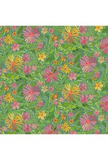 PD's Blend Fabrics Collection Sugar and Spice, Meadow in Daydream Blue, Dinner Napkin