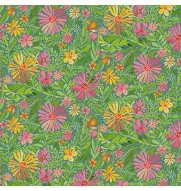 Cori Dantini Sugar and Spice, Meadow in Daydream Blue, Fabric Half-Yards 112.118.03.1