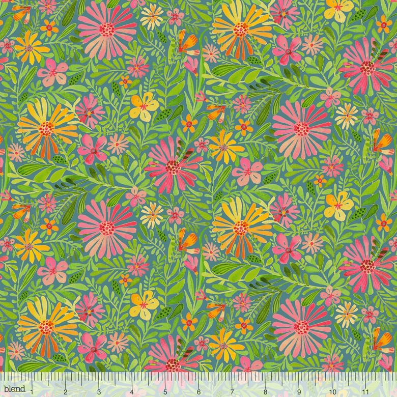 Cori Dantini Sugar and Spice, Meadow in Daydream Blue, Fabric Half-Yards 112.118.03.1