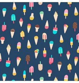 Dear Stella Ice Cream in Regatta, Fabric Half-Yards Stella-953