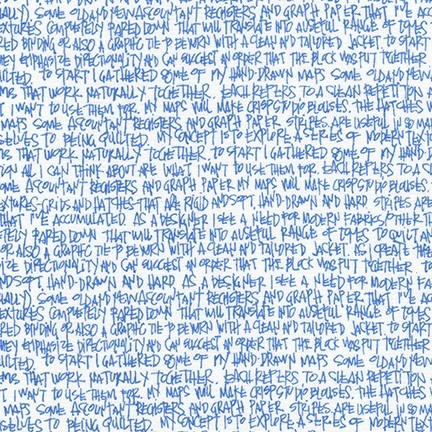 Carolyn Friedlander Architextures, Scribble Notes in Blueprint, Fabric Half-Yards AFR-13501-387
